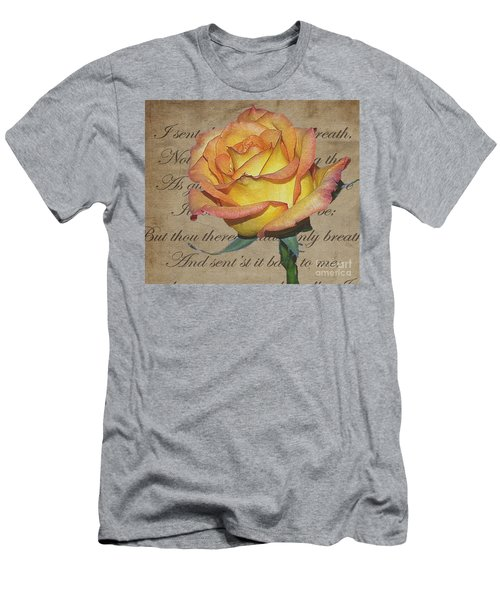 Romantic Rose Men's T-Shirt (Athletic Fit)