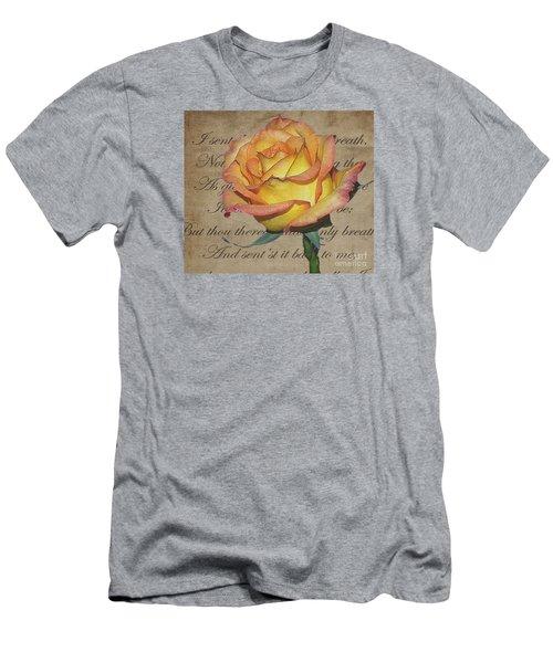 Romantic Rose Men's T-Shirt (Athletic Fit)