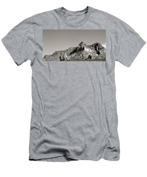Salt River Black And White Men's T-Shirt (Slim Fit) by Pamela Walrath