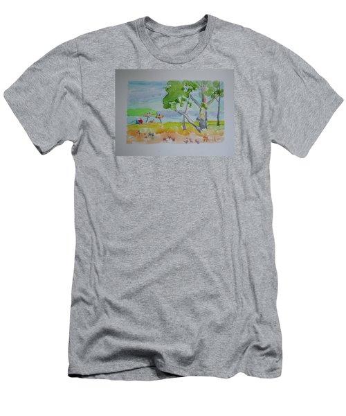 Sandpoint Bathers Men's T-Shirt (Slim Fit) by Francine Frank