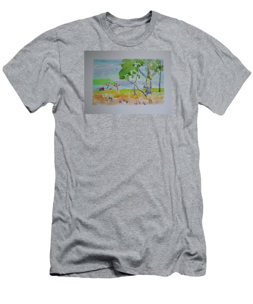 Sandpoint Bathers Men's T-Shirt (Slim Fit)