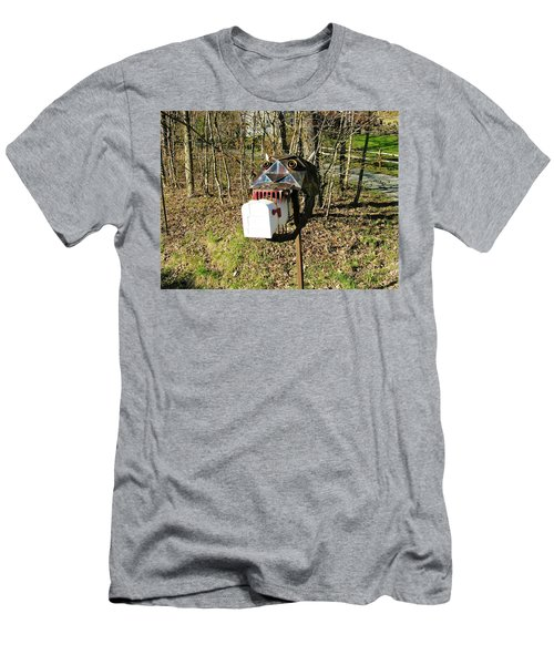 Men's T-Shirt (Slim Fit) featuring the photograph Scary Mailbox 3 by Sherman Perry