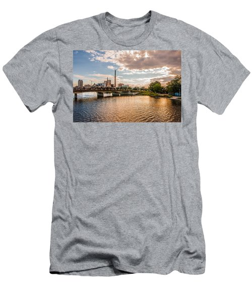 Men's T-Shirt (Slim Fit) featuring the photograph Silver Lake by Tom Gort
