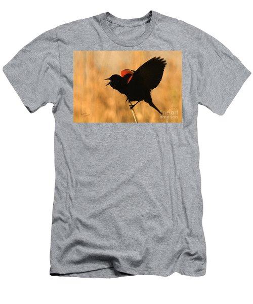 Singing At Sunset Men's T-Shirt (Athletic Fit)