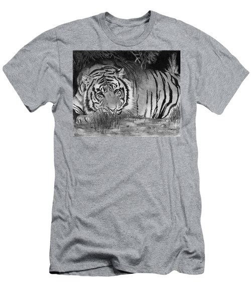 Sleepy Tiger Men's T-Shirt (Athletic Fit)