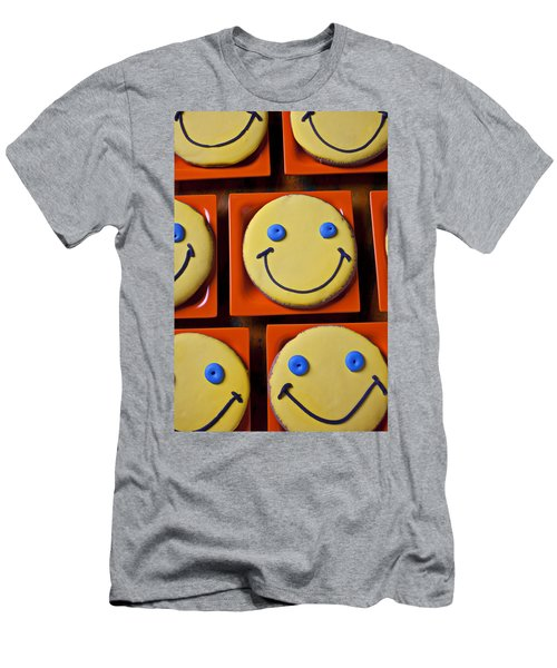 Smiley Face Cookies Men's T-Shirt (Athletic Fit)