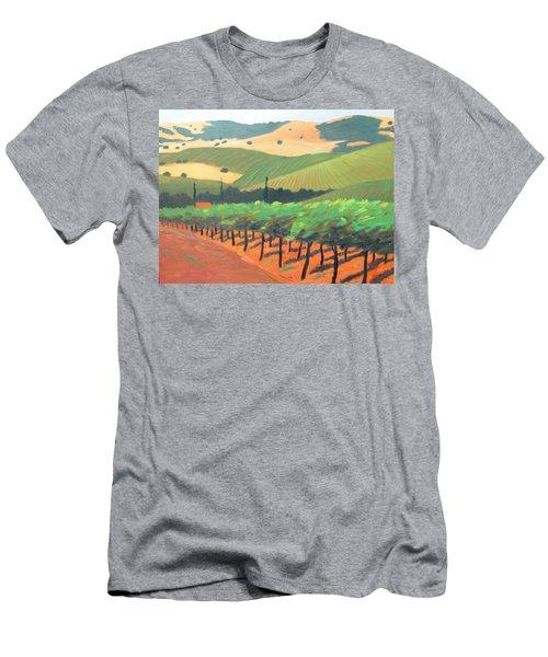 Sonoma Vinyard Men's T-Shirt (Slim Fit) by Gary Coleman