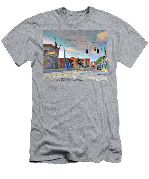 Men's T-Shirt (Slim Fit) featuring the photograph South Main Street Memphis by Lizi Beard-Ward