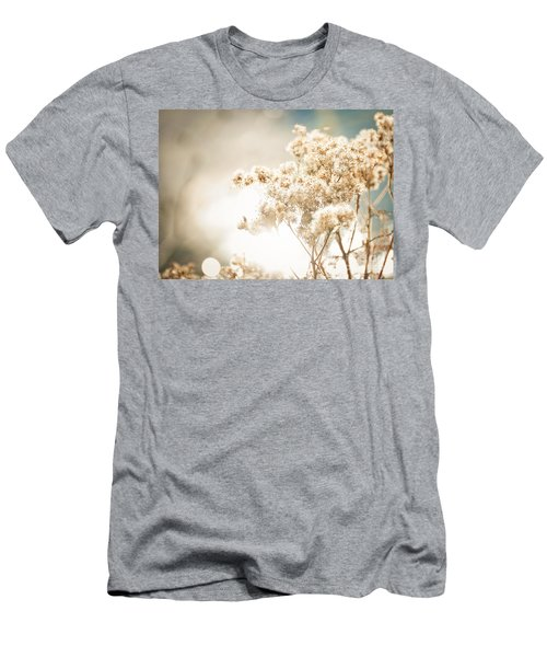 Men's T-Shirt (Slim Fit) featuring the photograph Sparkly Weeds by Cheryl Baxter