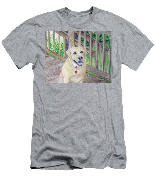 Spencer On Porch Men's T-Shirt (Athletic Fit)
