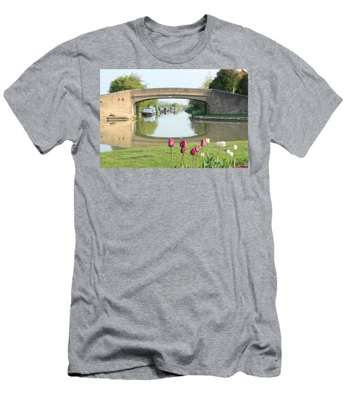 Spring On The Oxford Canal Men's T-Shirt (Athletic Fit)