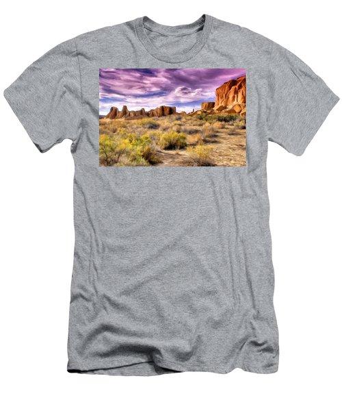 Spring Rain At Chaco Canyon Men's T-Shirt (Athletic Fit)
