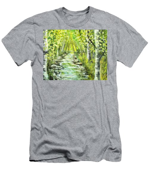Men's T-Shirt (Slim Fit) featuring the painting Summer by Shana Rowe Jackson