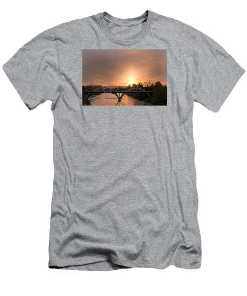 Sunburst Sunset Over Caveman Bridge Men's T-Shirt (Athletic Fit)