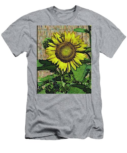 Men's T-Shirt (Slim Fit) featuring the photograph Sunflower Face by Alec Drake
