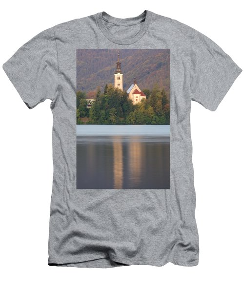 Sunrise Over Lake Bled And The Island Church Men's T-Shirt (Athletic Fit)