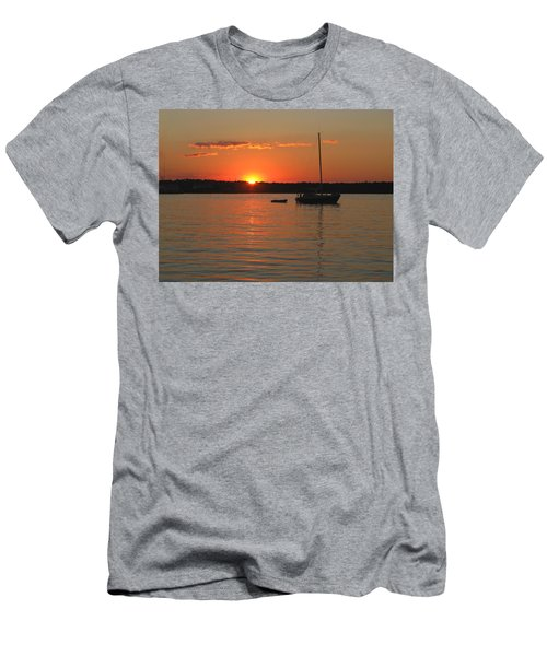 Men's T-Shirt (Slim Fit) featuring the photograph Sunset Cove by Clara Sue Beym