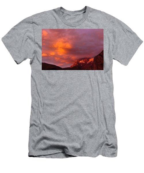 Sunset Murren Switzerland Men's T-Shirt (Athletic Fit)