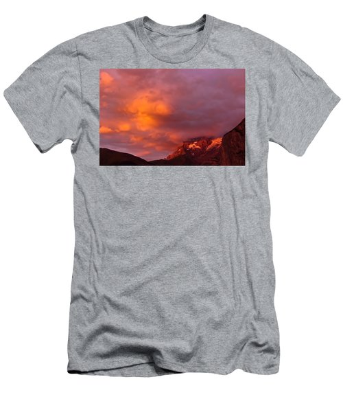 Sunset Murren Switzerland Men's T-Shirt (Athletic Fit)