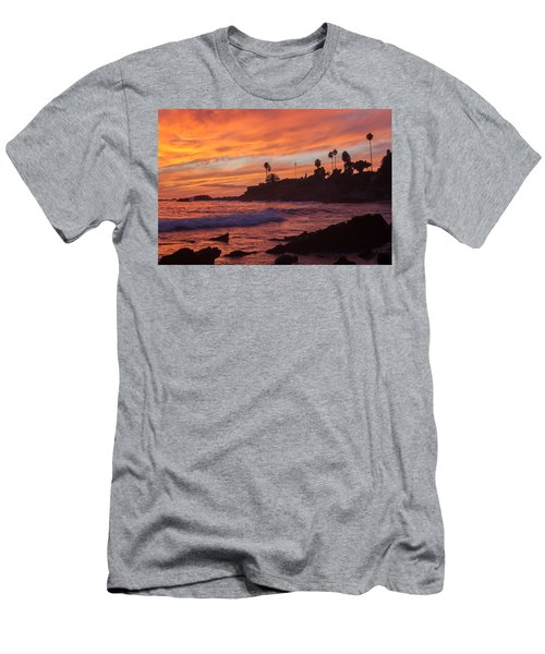 Sunset Off Laguna Beach Men's T-Shirt (Athletic Fit)