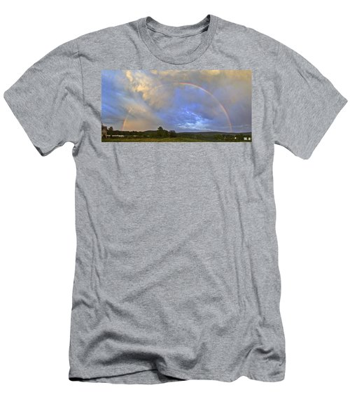 Sunset Rainbow Men's T-Shirt (Athletic Fit)