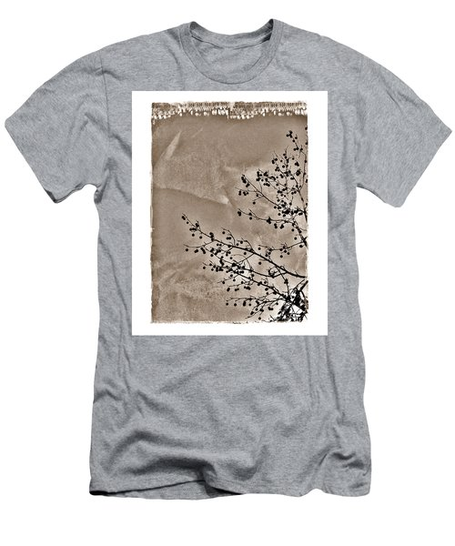 Men's T-Shirt (Slim Fit) featuring the photograph Sweetgum Sepia by Judi Bagwell