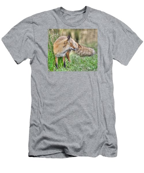 Tail Of The Fox Men's T-Shirt (Slim Fit) by CR  Courson