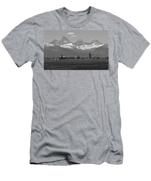 Men's T-Shirt (Slim Fit) featuring the photograph Tetonia Grain Elevators by Eric Tressler