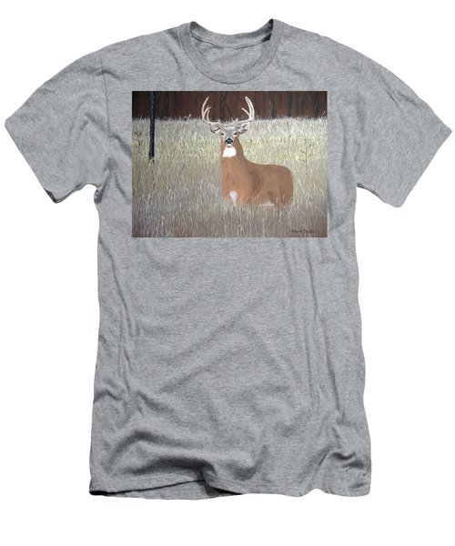 Men's T-Shirt (Slim Fit) featuring the painting The Buck Stops Here by Norm Starks