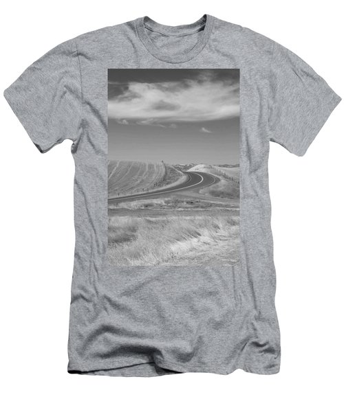 Men's T-Shirt (Slim Fit) featuring the photograph The Quiet Road by Kathleen Grace