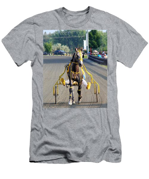 Men's T-Shirt (Slim Fit) featuring the photograph The Warm-up by Davandra Cribbie