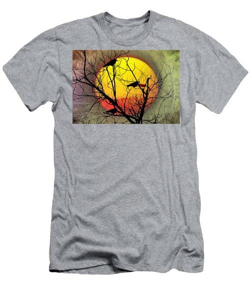 Three Blackbirds Men's T-Shirt (Slim Fit) by Bill Cannon