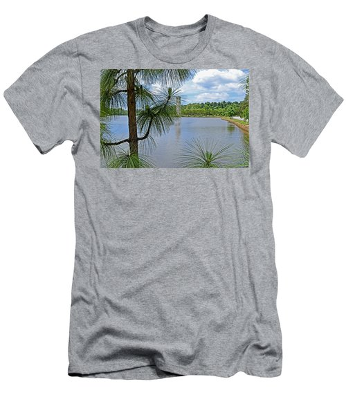 Tower Thru The Pine Men's T-Shirt (Slim Fit) by Larry Bishop