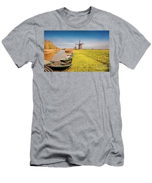 Traditional  Dutch Landscape Men's T-Shirt (Athletic Fit)