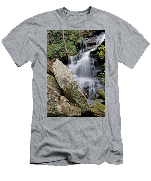 Tranquil Waterfall Men's T-Shirt (Athletic Fit)