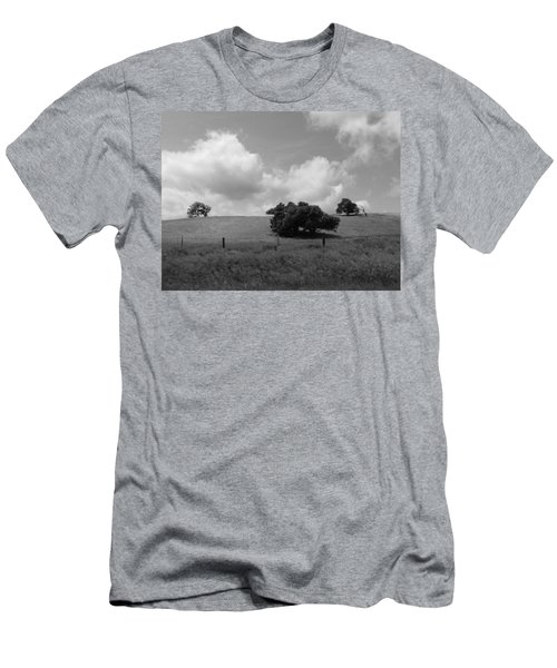 Men's T-Shirt (Slim Fit) featuring the photograph Trees On The Hillrise by Kathleen Grace