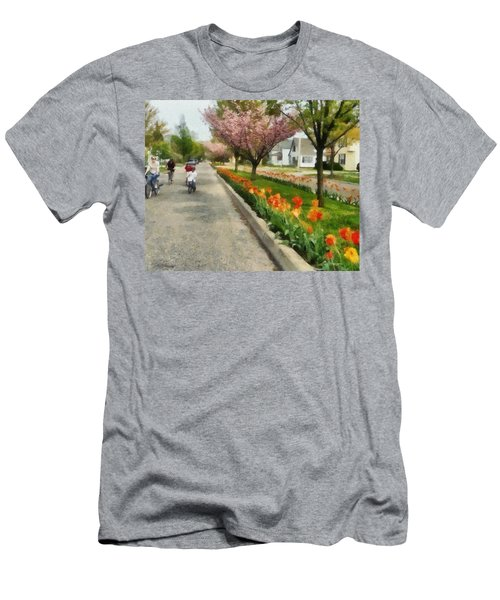 Tulips On The Boulevard Holland Michigan Men's T-Shirt (Athletic Fit)