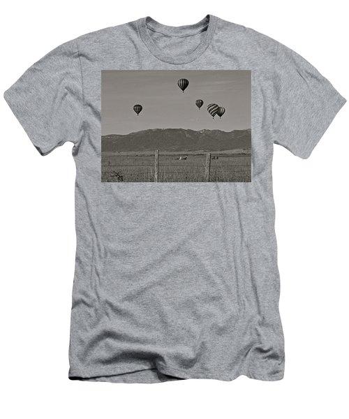 Men's T-Shirt (Slim Fit) featuring the photograph Unconcerned Lamas by Eric Tressler