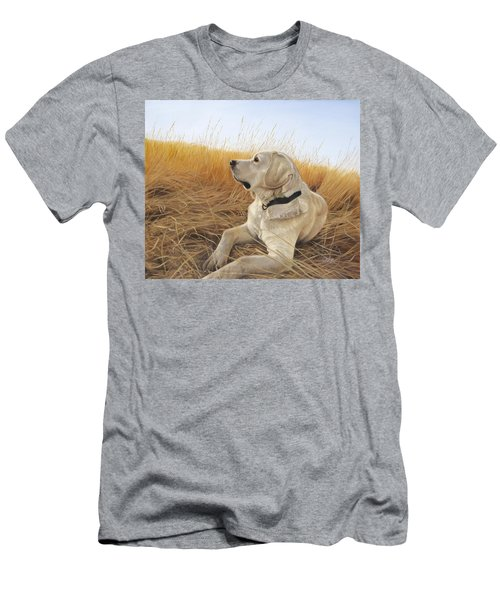 Men's T-Shirt (Athletic Fit) featuring the painting Waiting For The Birds by Tammy Taylor