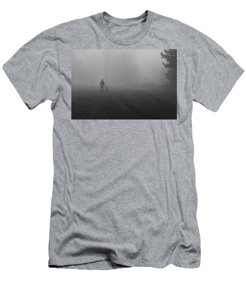Walk The Dog Men's T-Shirt (Slim Fit) by Maj Seda