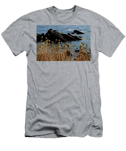 Men's T-Shirt (Slim Fit) featuring the photograph Watching The Sea 1 by Pedro Cardona