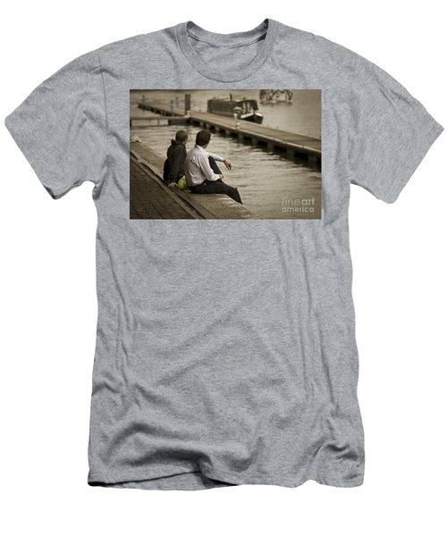 Watching The World Go By Men's T-Shirt (Athletic Fit)