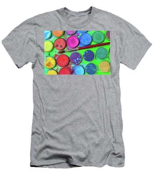 Watercolor Palette Men's T-Shirt (Athletic Fit)