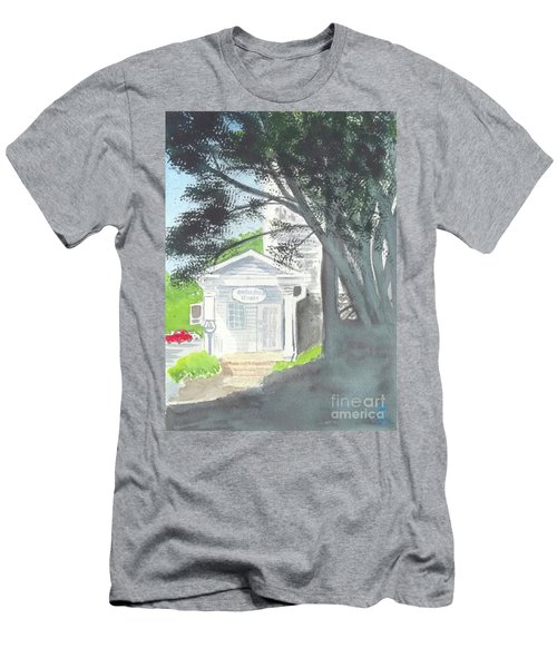 Men's T-Shirt (Slim Fit) featuring the painting Wellers Carriage House 1 by Yoshiko Mishina