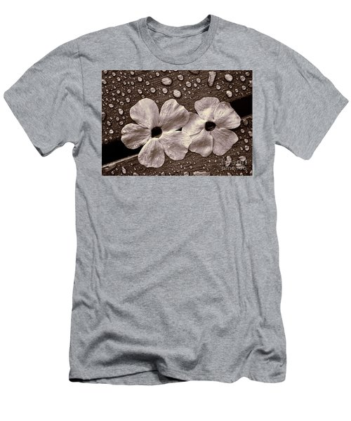 Wet Flowers And Wet Table Men's T-Shirt (Athletic Fit)