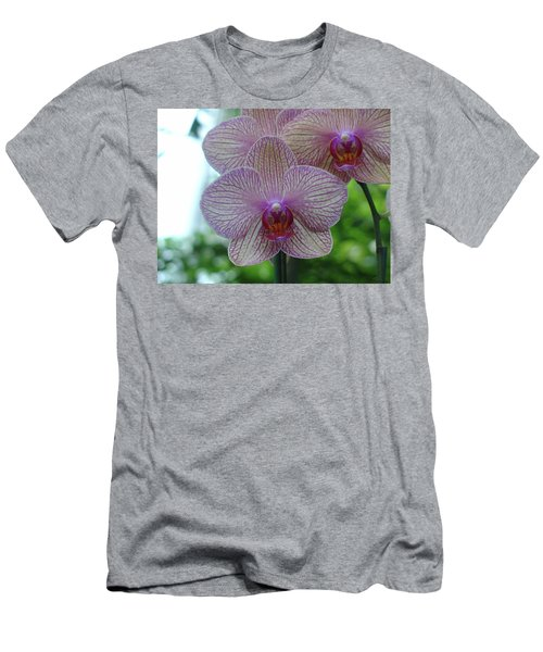 White And Pink Orchid Men's T-Shirt (Athletic Fit)