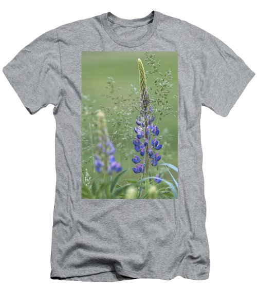 Wild Lupine Flower Men's T-Shirt (Athletic Fit)