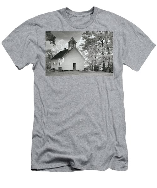 Men's T-Shirt (Slim Fit) featuring the photograph Wildwood Church by Mary Almond