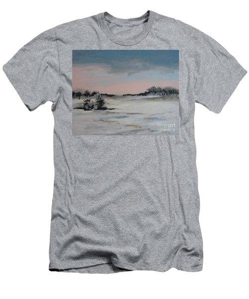 Winter Landscape Men's T-Shirt (Slim Fit)