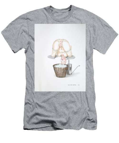 Men's T-Shirt (Slim Fit) featuring the mixed media  Behavior Control by TortureLord Art